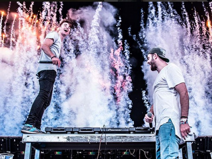 The Chainsmokers on stage